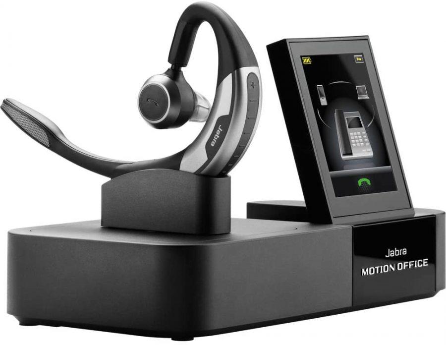 เก้าอี้-หูฟังในออฟฟิศ BestOffice V03-Black- Plantronics Voyager 5200